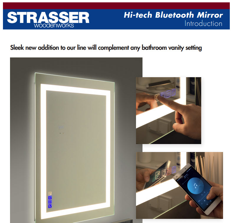 Specifications For The Hi-Tech Bluetooth Mirror